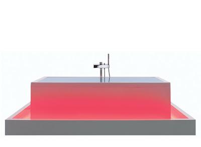 Bañera roja
