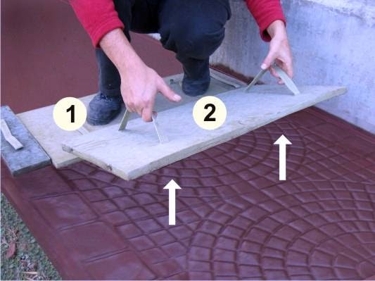 Arquitectura de casas pisos de concreto estampado en - Como colocar microcemento ...