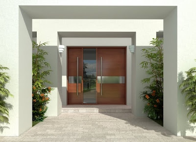 Arquitectura de casas puertas para exteriores de estilo for Diseno de entradas principales de casas