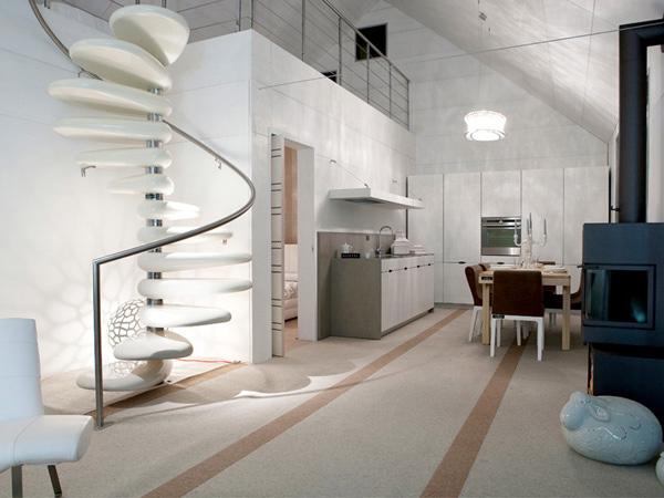Arquitectura de casas escalera caracol escult rica - Escaleras de caracol minimalistas ...