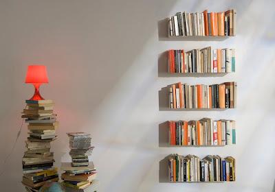 Estantes y libros