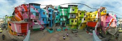 Pintura de fachadas en favelas