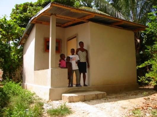 Pequeña casa económica para familias de Haiti