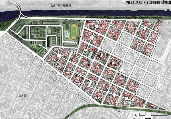 Arquitectura de casas urbanizaci n de una villa de for Villa jardin lanus oeste