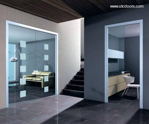 Arquitectura de casas puertas correderas de cristal for Puertas decorativas para interiores