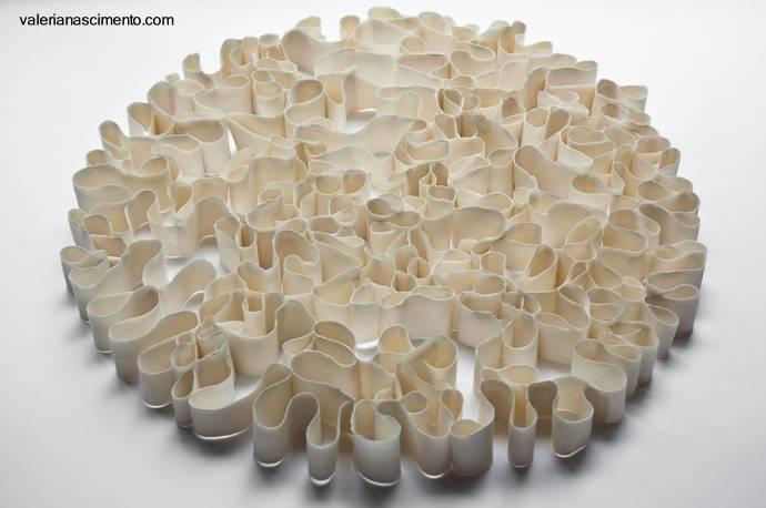 Arquitectura de casas escultura cer mica en la pared para for Ceramica para pared