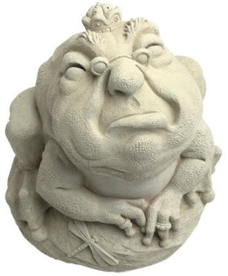 Escultura máscara de jardín