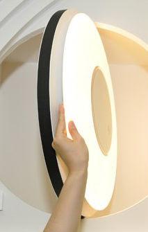 Plafón ultradelgado con LEDs