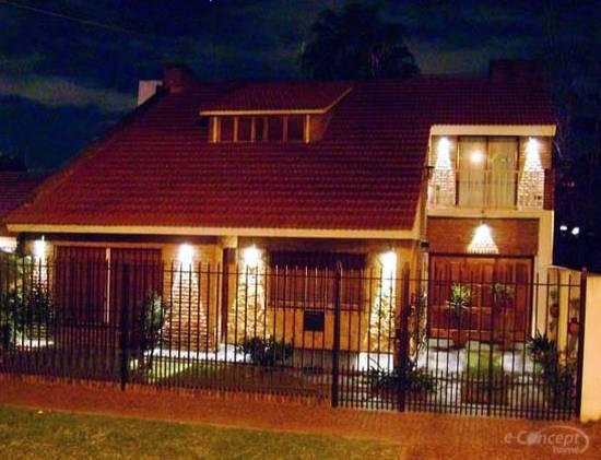arquitectura de casas iluminaci n de exteriores de la casa