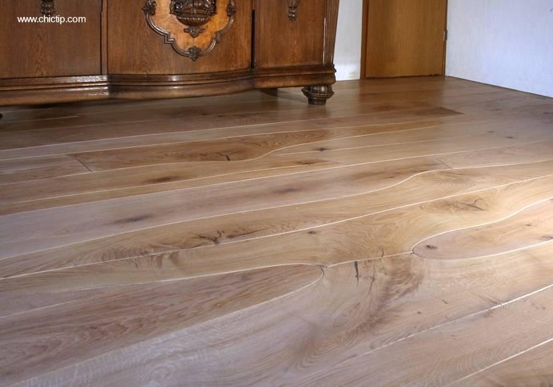arquitectura de casas piso de madera natural