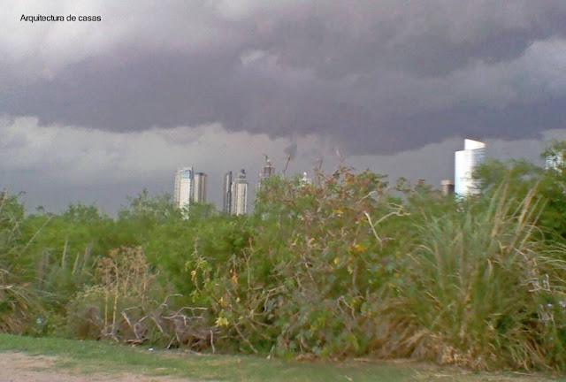 Reserva Ecológica de Buenos Aires y torres de la ciudad.