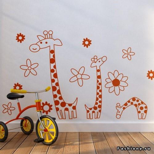 Трафареты на стену детские