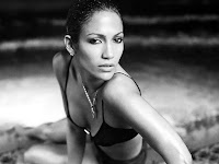 Actress Jennifer Lopez Black & White HD Wallpapers