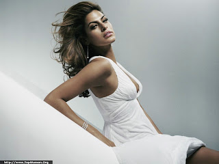 Sexy Eva Mendes Lovely Wallpaper