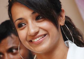 Tamil Actress Trisha Krishnan Smiling Pictures