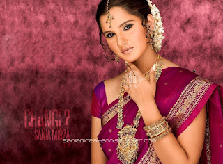 Sania Mirza In Saree