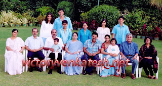 Victory Venkatesh Family Photo