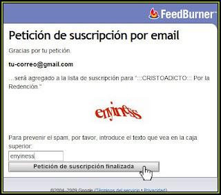 Introducir el código de verificación y darle click al botón