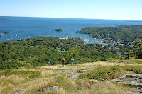 View of Camden Maine from Mt Battie in Camden Hills State Park