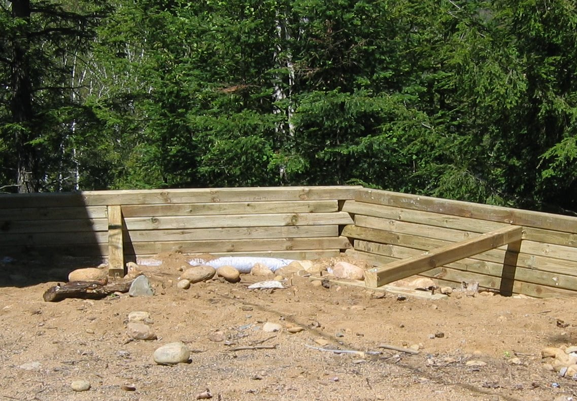 Cottage on the edge the diy cottage blog 5 tips for building a 5 tips for building a strong retaining wall solutioingenieria Gallery