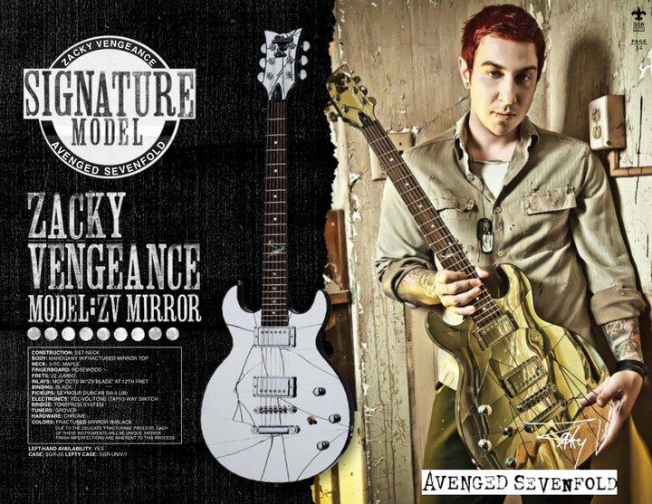 Zacky Vengeance in Schecter Catalog 2011Zacky Vengeance 2011