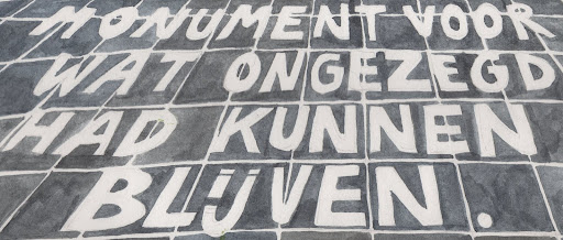 Monument voor wat ongezegd had kunnen blijven