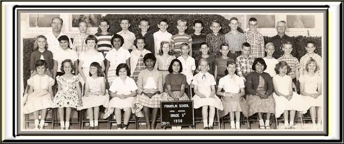 FRANKLIN 5th grade group 1956