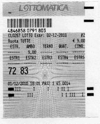 2 DICEMBRE 2010 AMBO SECCO VINTI 2.750 EURO