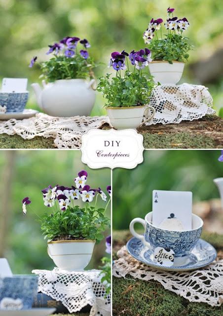Flower Garden Themed Bridal Shower : Diana radoi s diy teapot and teacup arrangements
