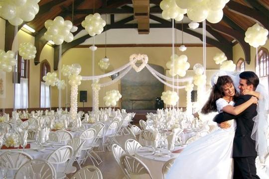 Boda en un sal n decoraci n foro banquetes - Decoracion bodas con globos ...