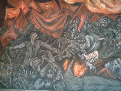 Ruta mexicana jos clemente orozco en el palacio de for El hombre de fuego mural de jose clemente orozco