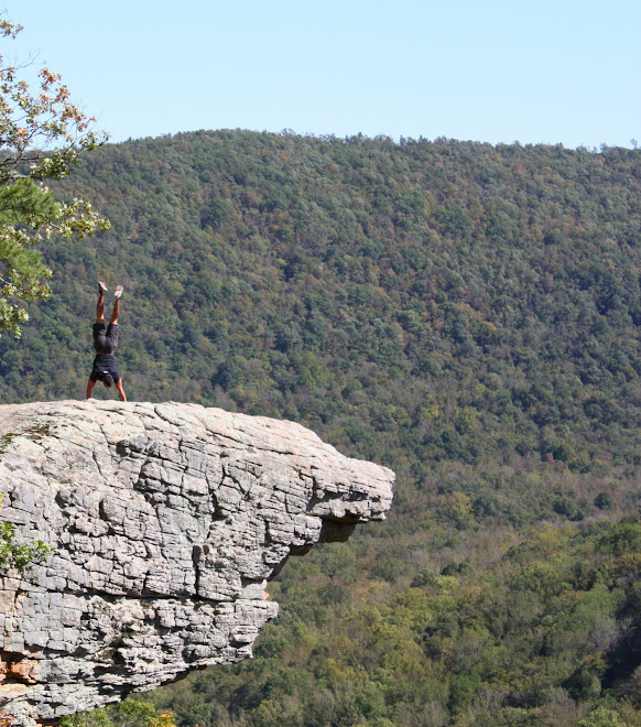 Handstand At Hawksbill Crag