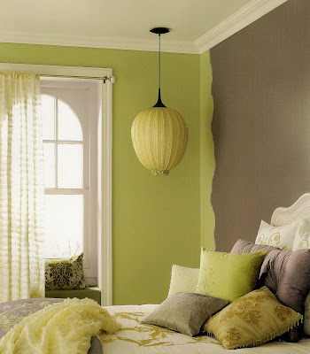 Color sizzle a passion for purple for Lime green wall color
