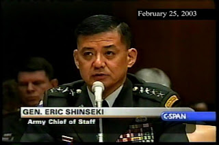 Shinseki testifies to the Senate Armed Services Committee