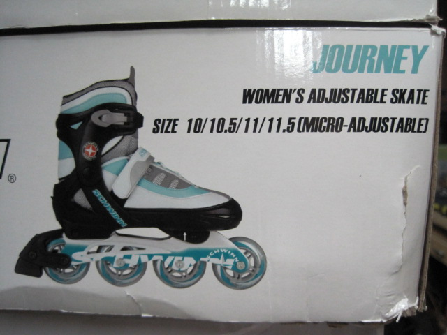 Womens Adjustable Skates Size !0/11/11.5 Teal