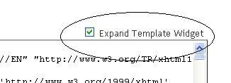 klik expand template widget