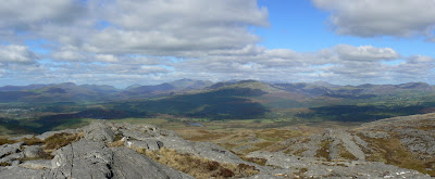 Panorama of North Snowdonia from Foel Penolau