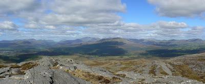Panorama of North Snowdonia from Foel Penolau
