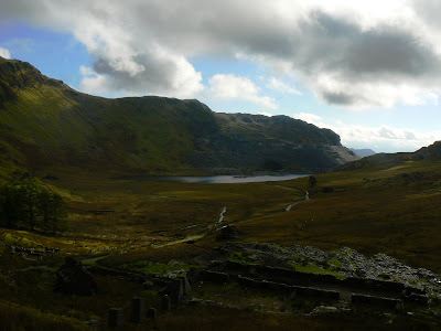 Looking back down the Cwmorthin Valley