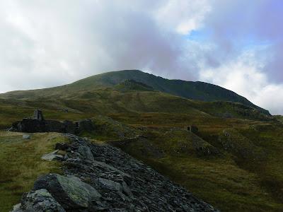 Moelwyn Mawr towering above the Rhosydd mines
