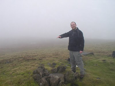 Standing at the site of the missing trig point on Parson's Pulpit