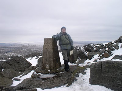 Stood by the trig point on Great Whernside - one of the original primary trig points this is one of the few to be maintained by the Ordnance Survey as part of the 'passive' network