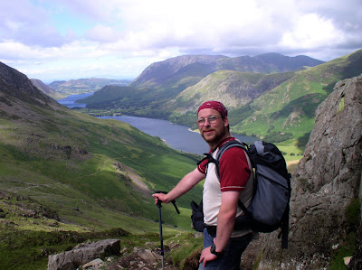 On the descent from Haystacks with Buttermere behind me