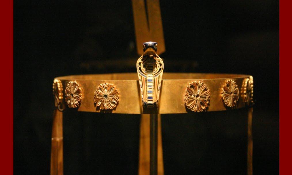 Egyptian Glass Hair Ring