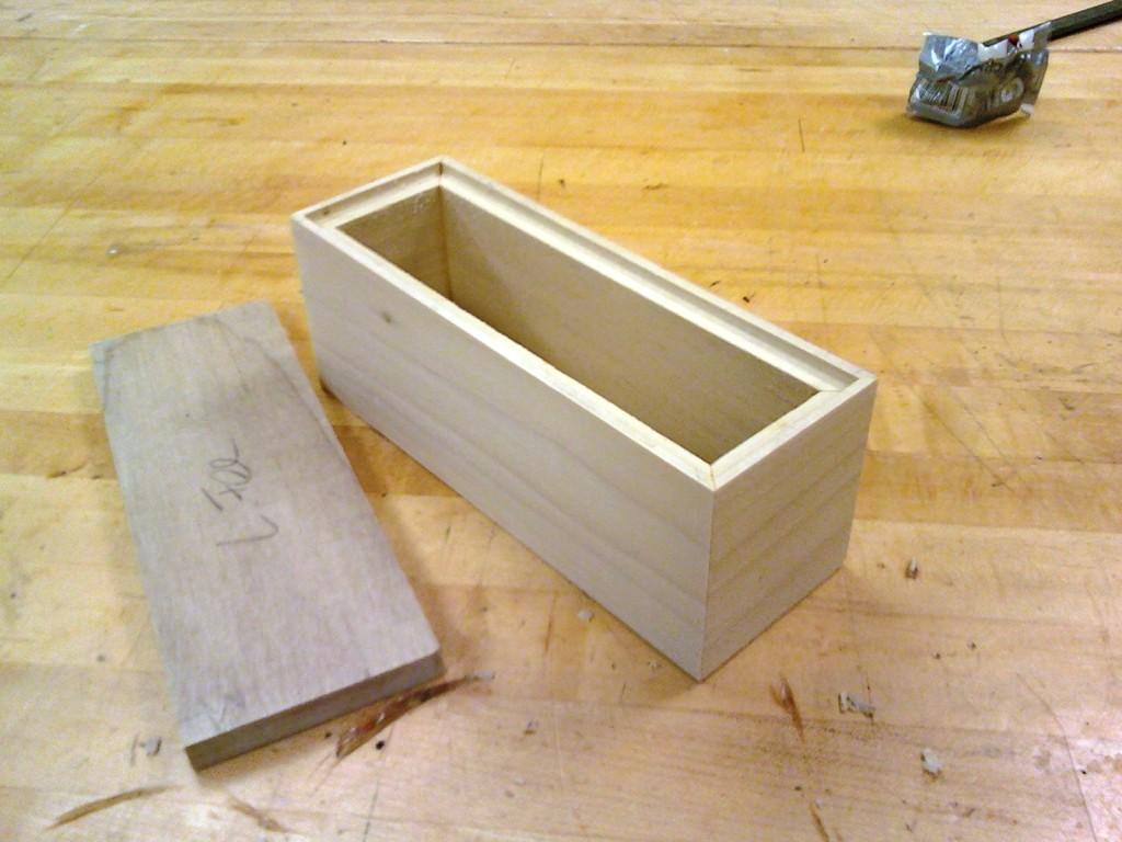 Beautiful Wood Box With Sliding Lid 7in