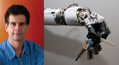 Dean Kamen (from DeKa) and his robo hand: the 'Luke Arm'.