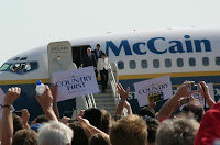The McCain plane lands at the Eastern Iowa Airport, c.2008 K.S.GOLLNICK