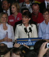 Sarah Palin speaking in Cedar Rapids, IA, photo by K.S.Gollnick