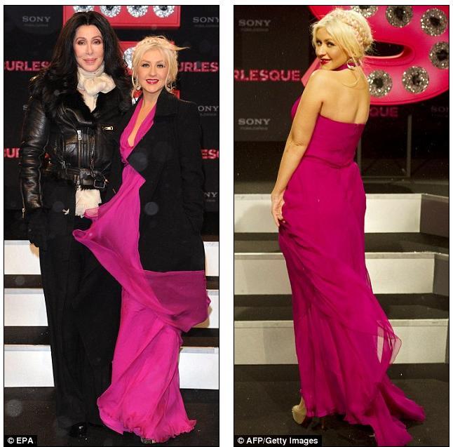 christina aguilera burlesque hair. Christina Aguilera is in the