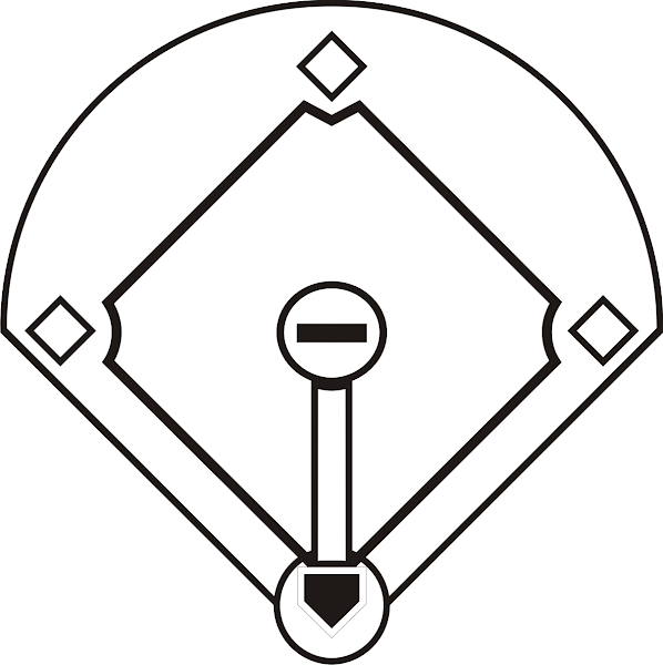 Baseball Diamond Clip Art Black and White